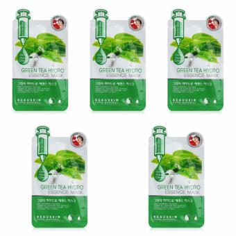 Bộ 5 miếng mặt nạ hút sạch bã nhờn, dầu thừa trên da Green Tea Hydro Essence Mask 20ml