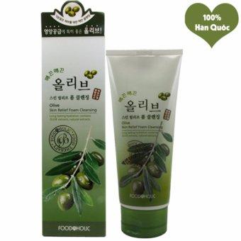 Sữa Rửa Mặt Trắng Da Se Khít Lỗ Chân Lông Foodaholic Olive Skin Foam Cleansing Hàn Quốc 180ml - Hàng Chính Hãng