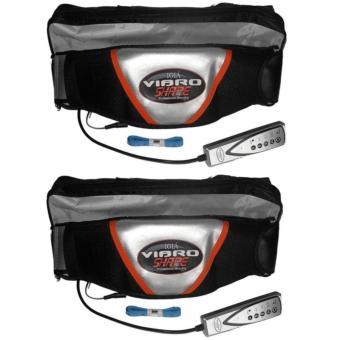 Bộ 2 Đai massage bụng giảm mỡ Vibro Shape (Đen)