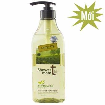 Sữa tắm nuôi dưỡng làn da giúp da trắng mịn Showermate Body Nature Green Tea Hàn Quốc 550ml - Hàng Chính Hãng