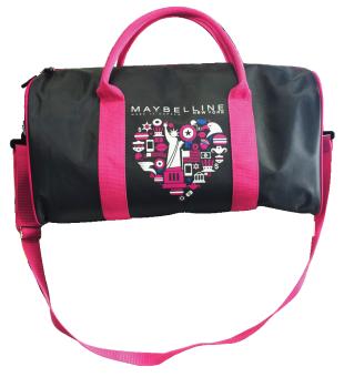 (Quà tặng không bán) Túi trống du lịch Maybelline cỡ lớn ( màusắcngậu nhiên)