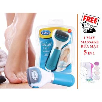 Máy chà gót chân VELVET SMOOTH + Tặng 1 máy massage rửa mặt 5 in 1