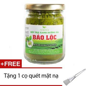 Bột trà xanh dưỡng da Bảo Lộc 100g + Tặng 1 cọ quét mặt nạ