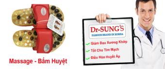 Dép Massage - Bấm Huyệt Dr.Sung (Đỏ)