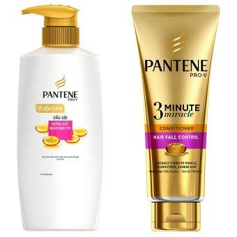 Bộ 1 dầu gội Pantene ngăn rụng tóc 670g và 1 kem xả Pantene ngăn rụng tóc 180ml