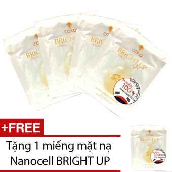 Bộ 4 mặt nạ Nanocell Xen-lu-lo Bright Up + Tặng mặt nạ Nanocell Bright Up