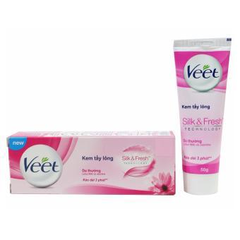 Kem Tẩy Lông Dành Cho Da Thường Veet Silk & Fresh Normal Hair Removal 50g
