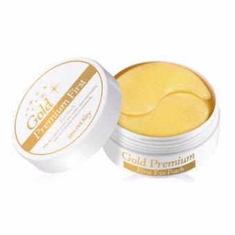 Hộp 60 miếng mặt nạ dưỡng da vùng mắt cao cấp chứa tinh thể vàng 24K Secret Key 24K Gold Premium First Eye Patch 60pcs