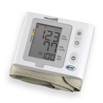 Máy đo huyết áp cổ tay BP W2 SLIM ( trắng )