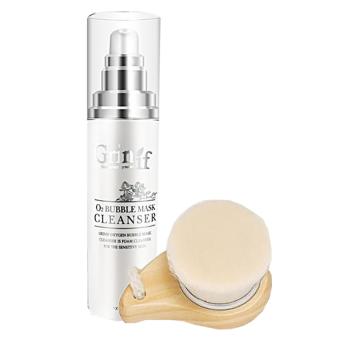 Bộ 1 sữa rửa mặt Oxy tươi Grinif O2 Bubble Mask Cleanser3 và 1 cọ rửa mặt Grinif Detox Pore Brush