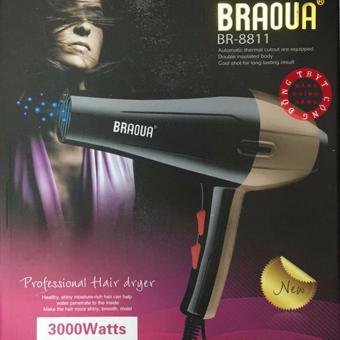Máy sấy tóc 3000W Braoua Br-8811(Vàng)