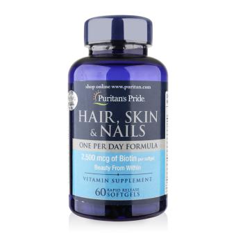 Viên uống bổ sung dinh dưỡng làm đẹp tóc, da, móng Puritan's Pride Hair, Skin & Nails 60 viên