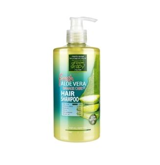 Dầu gội cho tóc hư tổn từ nha đam GREEN GRAPHY Fresh Aloe Vera Damage Care Hair Shampoo 500ml