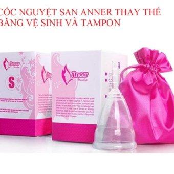 Cốc Nguyệt San Silicone Anner Thay Thế Báng Vệ Sinh Va Tampon (màu Trắng sữa)
