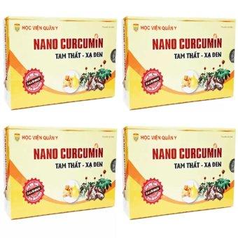 Bộ 4 hộp Nanocurcumin Tam Thất Xạ Đen Học viện quân y