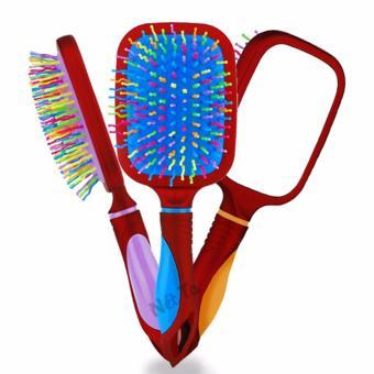 Lược kèm gương đa năng massage đầu và tạo độ phồng tự nhiên cho tóc (Màu ngẫu nhiên)