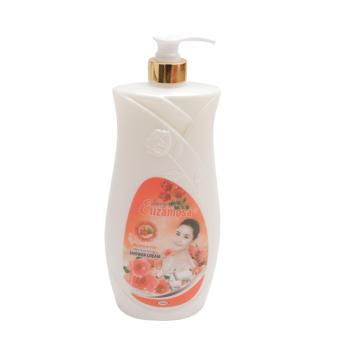 Sữa tắm Elizamosa giữ ẩm dưỡng da tinh chất hoa hồng 1200ml (Trắng)