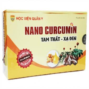 Viên uống hỗ trợ viêm loét dạ dày Nano Curcumin Tam Thất Xạ Đen Học Viện Quân Y