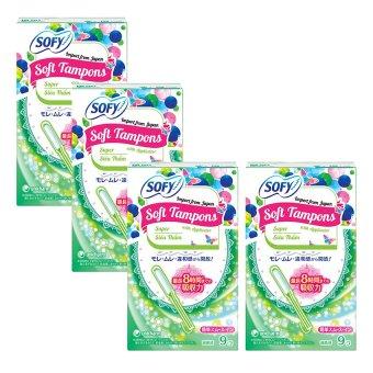 Bộ 4 gói tampon Unicharm Sofy Soft