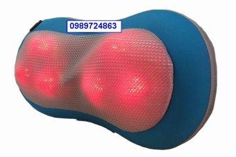 Gối massage 6 bi xoay hồng ngoại nóng công nghệ nhật