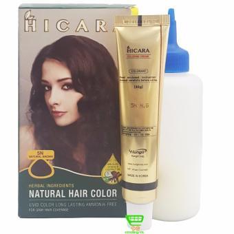 Thuốc nhuộm tóc phủ bạc dạng kem HICARA 5N 40g (Nâu Tự Nhiên)
