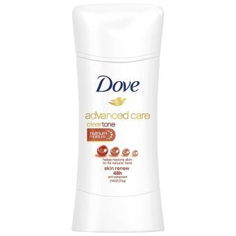 Lăn khử mùi nữ dạng sáp Dove Advanced Care Antiperspirant Deodorant, Clear Tone Skin Renew 76g (Mỹ)