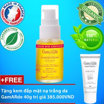 Serum dưỡng ẩm chống lão hóa cho da khô Gamarde 30ml + Tặng kem đắp mặt nạ trắng da GamARde 40g trị giá 385K
