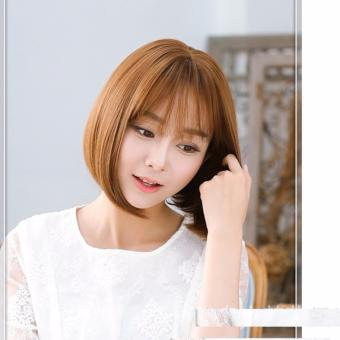 Tóc giả nữ kiểu ngắn - TGN003- màu nâu sáng