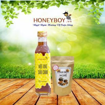 Mật Ong Sữa Chúa Honeyboy 250ml + Túi tinh bột nghệ 50g