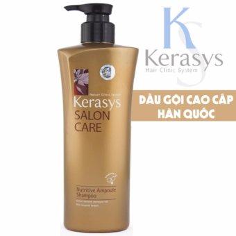 Dầu gội củng cố cấu trúc tóc bảo vệ tóc hư tổn KeraSys Salon care Nutritive Ampoule cao cấp Hàn Quốc 600ml - Hàng Chính Hãng