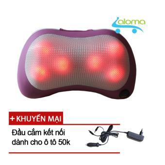 Gối Massage 6 bi hồng ngoại trong bi Massage Pillow PL-819 tặng đầu cắm oto