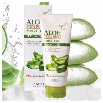Kem tẩy da chết lô hội trắng sáng da Dabo Aloe stem-rich moisture Peeling Gel 180ml