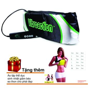 Đai massage thon gọn bụng Vibroaction + Áo tập thể dục giảm mỡ