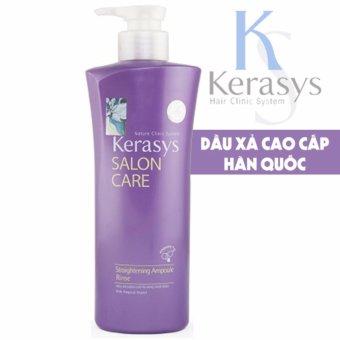 Dầu xả dành cho tóc thẳng tự nhiên Kerasys Salon care Straightening Cao cấp Hàn Quốc 600ml - Hàng Chính Hãng