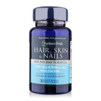 Viên uống bổ sung dinh dưỡng làm đẹp tóc, da, móng Puritan's Pride Hair, Skin & Nails 30 viên