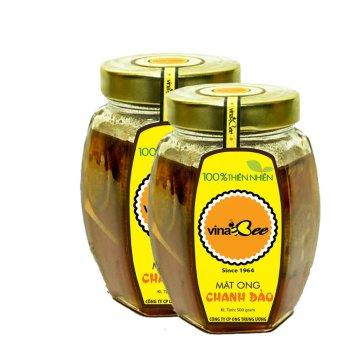 Bộ 2 lọ mật ong chanh đào Vinabee 500g