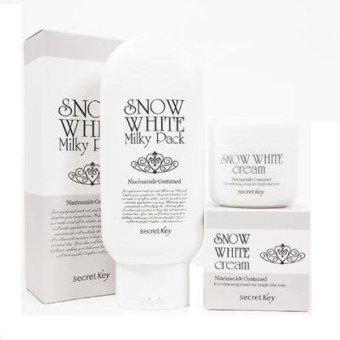 Bộ sản phẩm tắm trắng Snow White Milky Pack và Kem làm trắng Snow White Cream