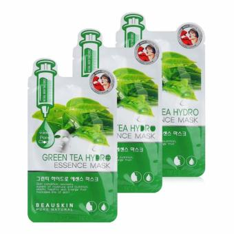 Bộ 3 Mặt nạ dưỡng da trà xanh Beauskin Green Tea Hydro Mask