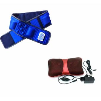 Đai massge X5 TQ-353 + Gối mát-xa đa năng Massage FP-818 (Đỏ)