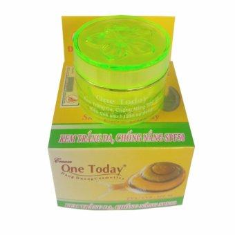 Kem dưỡng trắng da chống nắng SPF50 One Today 10g