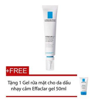 Kem trị mụn La Roche Posay Effaclar K++ Tặng gel rửa mặt cho da dầu nhạy cảm Effaclar 50ml