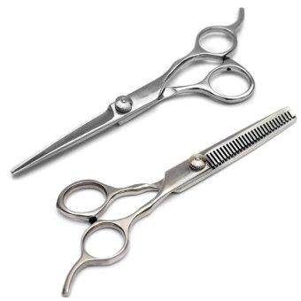 Bộ 2 kéo cắt và tỉa tóc hộp gỗ