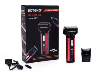 Máy cạo râu, tông đơ cắt tóc 2 trong 1 BOTENG BT-T1-B (Hồng phối đen)
