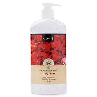 Sữa tắm trắng da hương hoa hồng Geo Perfume Body Cleanser Rose Spa 600ml