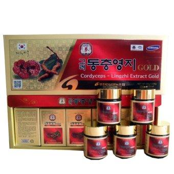 Cao linh chi đông trùng hạ thảo Korea Red Gingsen 50g x 5 hộp