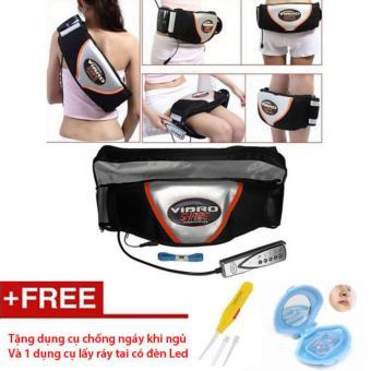 Đai rung nóng giảm mỡ bụng Viber Shape - Tặng dụng cụ chống ngáy ngủ và lấy ráy tai có đèn