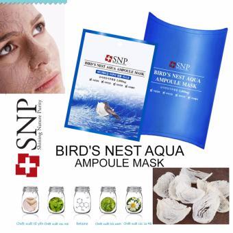 Mặt nạ dưỡng ẩm tinh chất ampoule tổ yến SNP Bird's Nest Aqua Ampoule mask