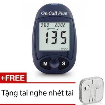 Máy đo đường huyết Acon On call Plus (Xanh đen) + Tặng 1 tai nghe nhét tai