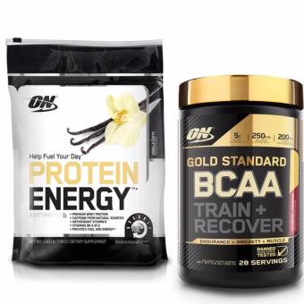 Bộ ON-Protein Energy 1.6 lb Vanilla Latte và Gold Standard BCAA 280gr Cranberry Lemonade