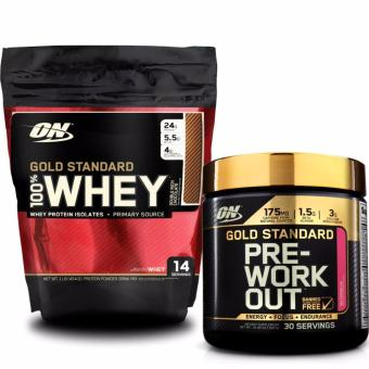 Bộ Gold Standard 100% Whey 1lb Double Rich Chocolate và Gold Pre-Workout 300g Watermelon